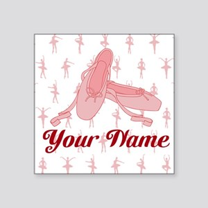 Personalized Pink Ballet Slippers Ballerina Sticke