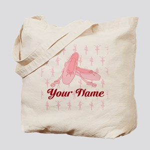 Personalized Pink Ballet Slippers Ballerina Tote B