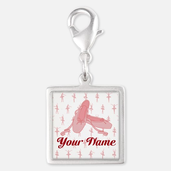 Personalized Pink Ballet Slippers Ballerina Charms
