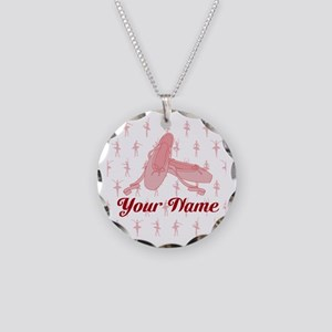 Personalized Pink Ballet Slippers Ballerina Neckla
