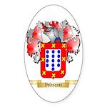 Velasquez Sticker (Oval 10 pk)