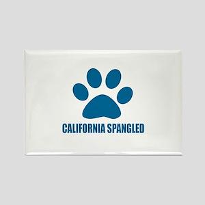California Spangled Cat Designs Rectangle Magnet