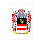 Veinbaum Sticker (Rectangle 50 pk)