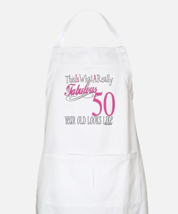 50th Birthday Gifts BBQ Apron