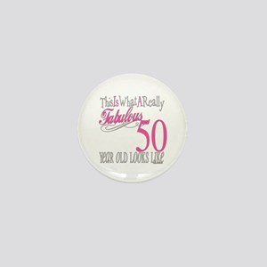50th Birthday Gifts Mini Button