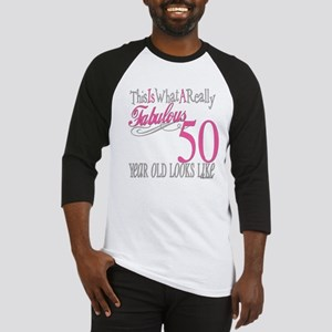 50th Birthday Gifts Baseball Jersey
