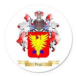 Vega Round Car Magnet