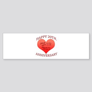 20th. Anniversary Bumper Sticker