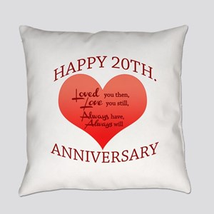 20th. Anniversary Everyday Pillow