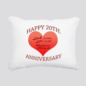 20th. Anniversary Rectangular Canvas Pillow