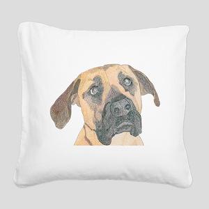 Daisy Square Canvas Pillow