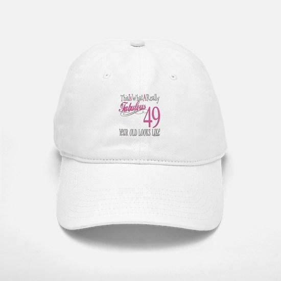 49th Birthday Gifts Baseball Baseball Cap