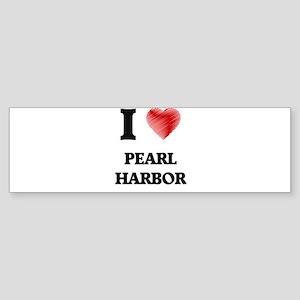 I love Pearl Harbor Hawaii Bumper Sticker