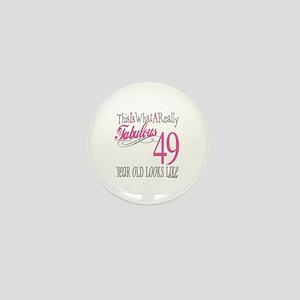49th Birthday Gifts Mini Button