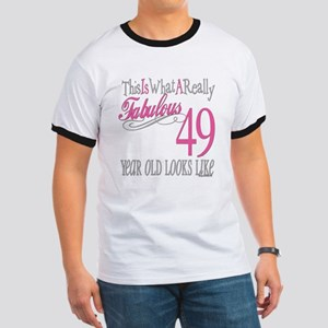 49th Birthday Gifts Ringer T