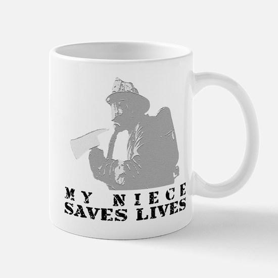 Firefighter Niece Saves Lives Mug