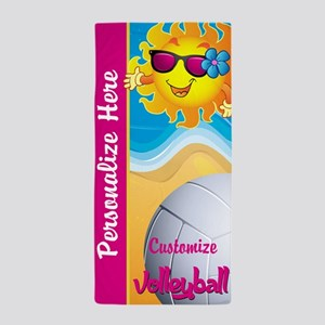 Volleyball Summer Custom Beach Towel