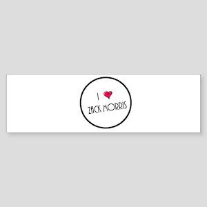 I Love Zack Morris Bumper Sticker