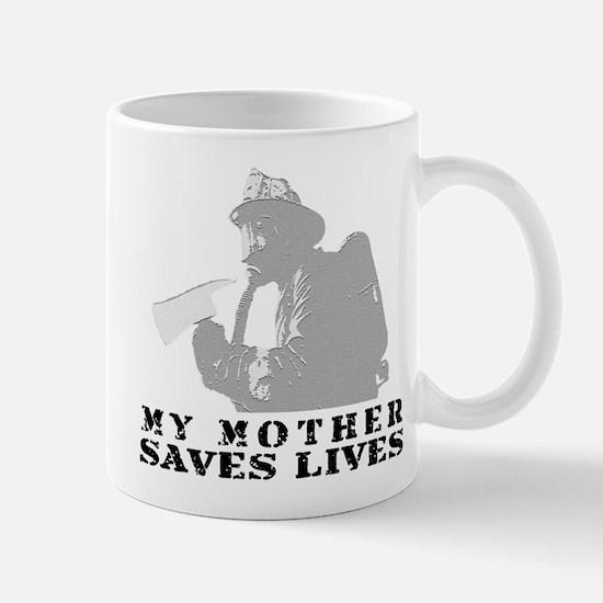 Firefighter Mother Saves Lives  Mug