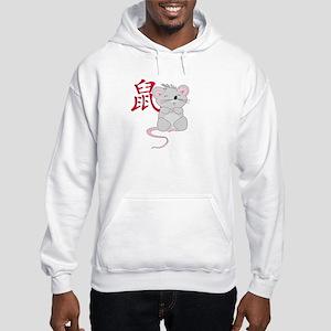Rat with Character Hooded Sweatshirt