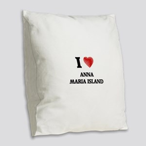 I love Anna Maria Island Flori Burlap Throw Pillow