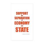 Economy Sticker (Rectangle 10 pk)
