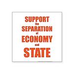 Economy Square Sticker 3