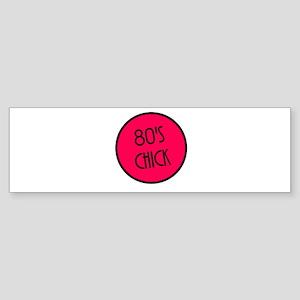 80's Chick Bumper Sticker