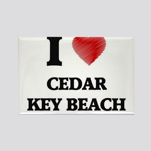I love Cedar Key Beach Florida Magnets