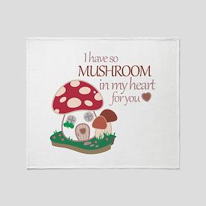 So Mushroom Throw Blanket