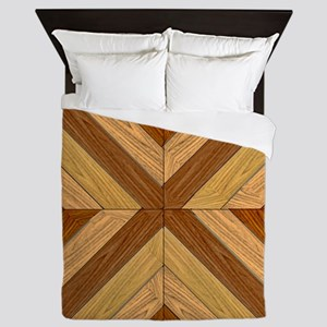 7th Pattern; New Parquet Floor Queen Duvet