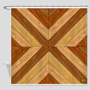 7th Pattern; New Parquet Floor Shower Curtain