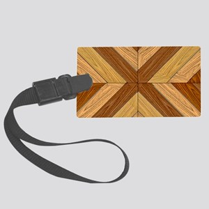 7th Pattern; New Parquet Floor Large Luggage Tag