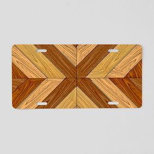 7th Pattern; New Parquet Fl Aluminum License Plate