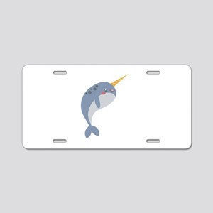 Narwhal Aluminum License Plate