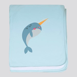 Narwhal baby blanket