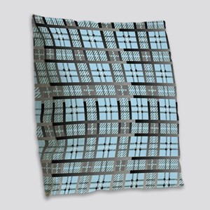 8th Pattern; New Plaid Pattern Burlap Throw Pillow