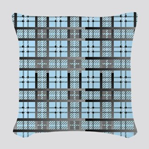 8th Pattern; New Plaid Pattern Woven Throw Pillow