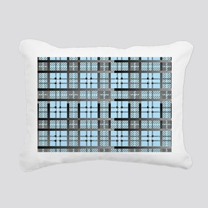 8th Pattern; New Plaid P Rectangular Canvas Pillow