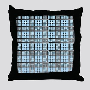 8th Pattern; New Plaid Pattern Throw Pillow