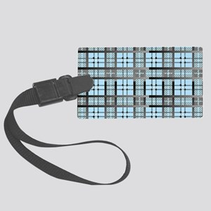 8th Pattern; New Plaid Pattern Large Luggage Tag