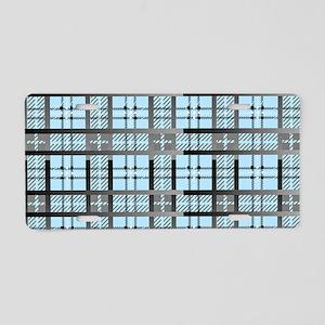 8th Pattern; New Plaid Patt Aluminum License Plate
