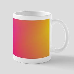 Pink Orange Yellow Ombre Mugs