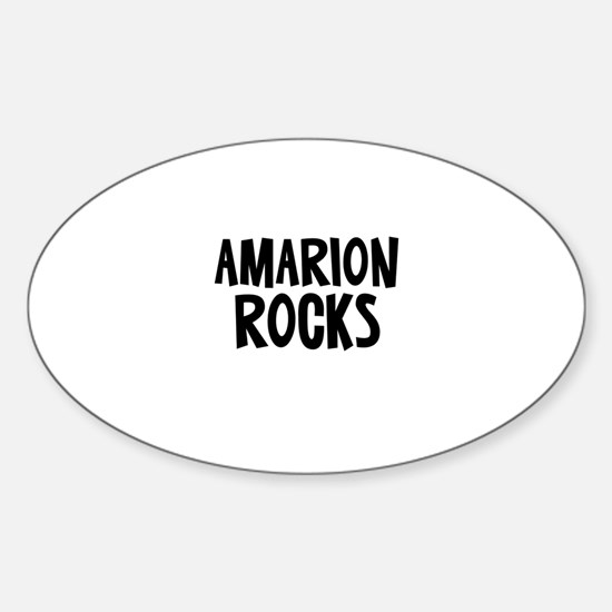 Amarion Rocks Oval Decal