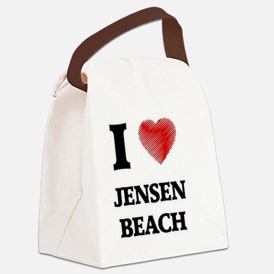 Funny Jensen beach florida Canvas Lunch Bag