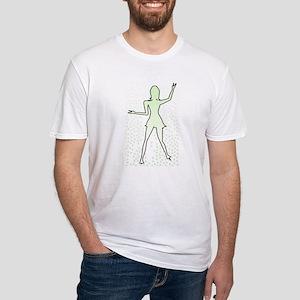 Dancing Girl Outline T-Shirt