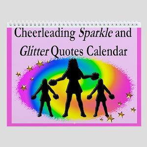 Cheerleaders Shine Wall Calendar