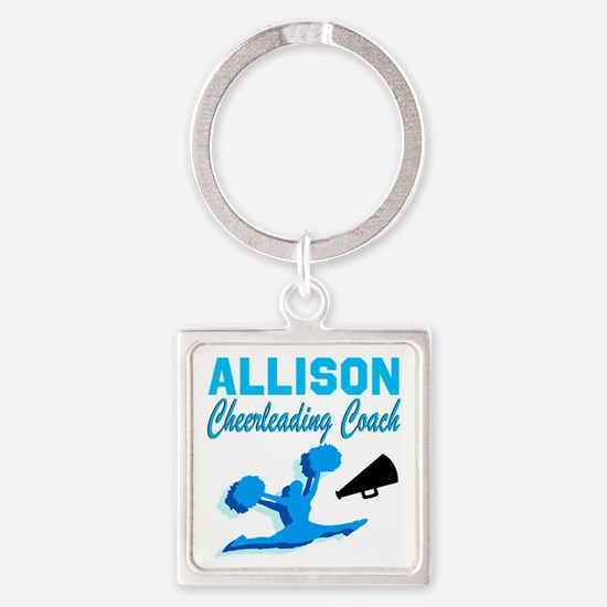 CHEERING COACH Square Keychain