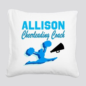 CHEERING COACH Square Canvas Pillow