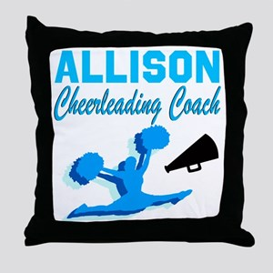 CHEERING COACH Throw Pillow